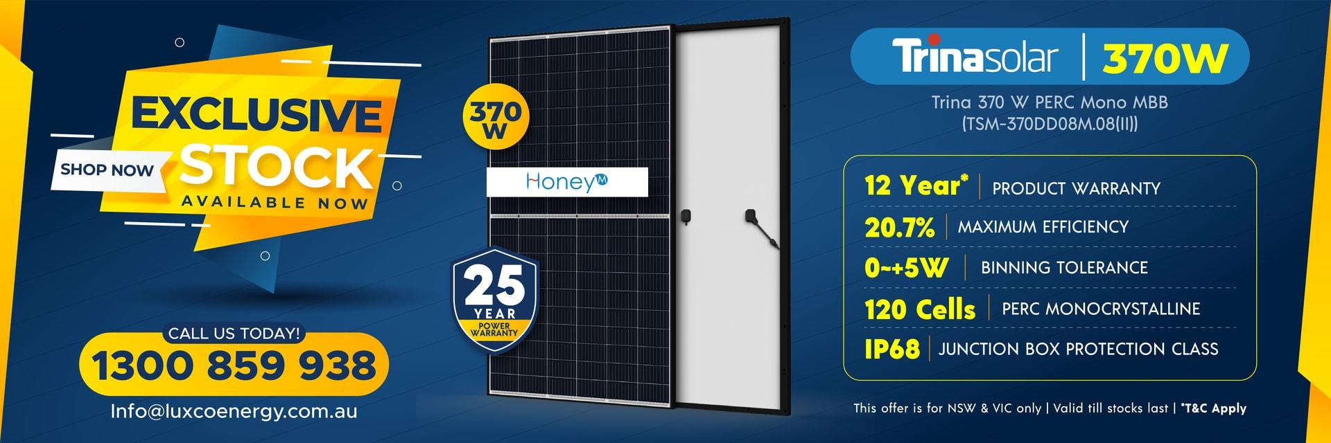 370 w trina wholesale solar panel sale luxco energy